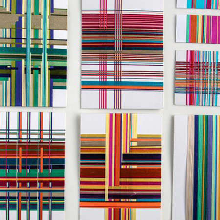 Weave samples by Rashida Tang Campbell, BA (hons) Textiles year 2