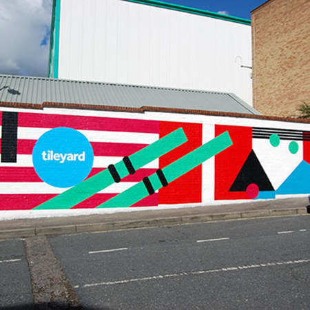 Tileyard Studios mural by Esther Ellard