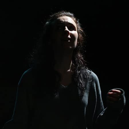 Woman in the dark, Midsummer Night's Dream performance, MA Acting, CSM, 2012.