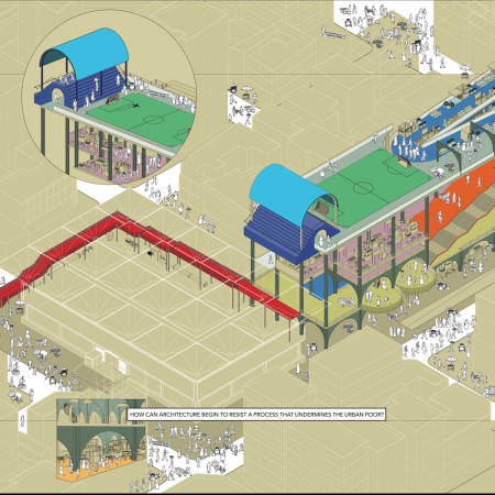 Alma Mpungwe | Informal Infrastructures, Khanga Drawing of Kariakoo, Dar es Salaam, Tanzania