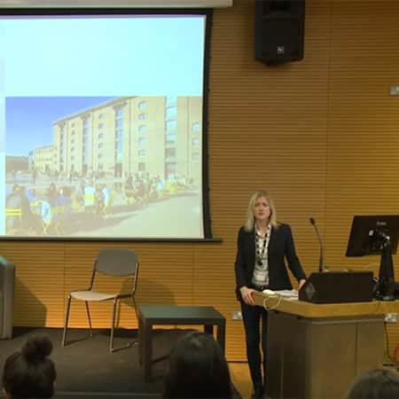 Course Leader Charlotte Bonham-Carter leaders open day lecture