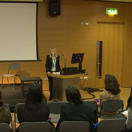Course Leader Charlotte Bonham-Carter leads open day lecture