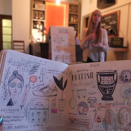 Visual diary making with Michelle Mildenberg
