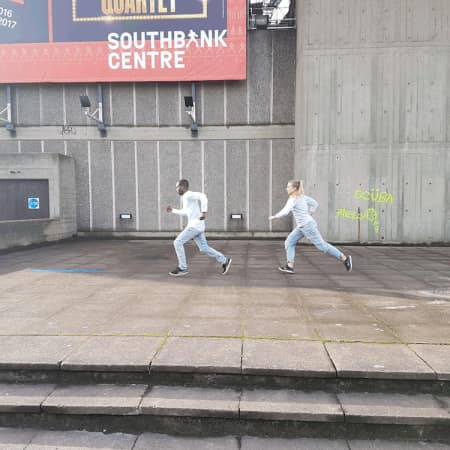Image of dancers performing outside of the Southbank Centre