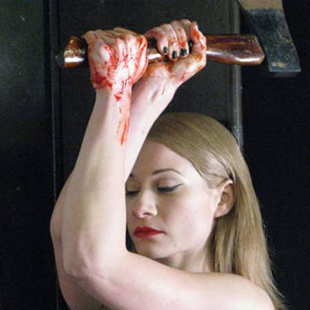 Woman with axe in her hands, MA Screen: Acting, CSM, 2012.