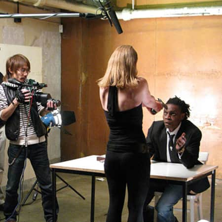 Film set, MA Screen: Acting, CSM, 2012. Image: Mark Duffield.