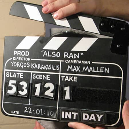 Image one: Also Ran, Directed by Yorgos-Karavasilis, MA Screen: Directing or Writing, CSM, 2012.