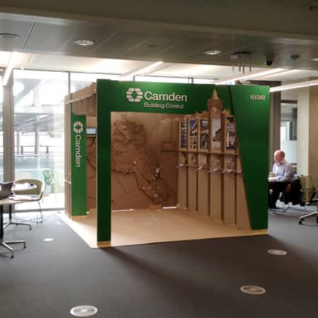 The Camden pavilion installed at the Camden offices in Kings Cross.