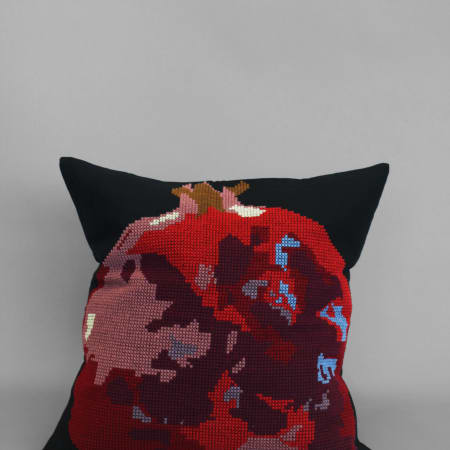 Pomegranate Cushion by Violet Miller and Tomaze Khoload, 2017