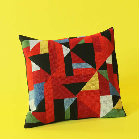 Geometric Cushion by Michael Woods and Haneen Farajjalah