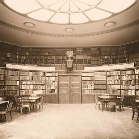 A photo of a reading room