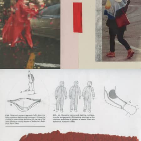 Details from Austen Western's BA Fashion sketchbooks