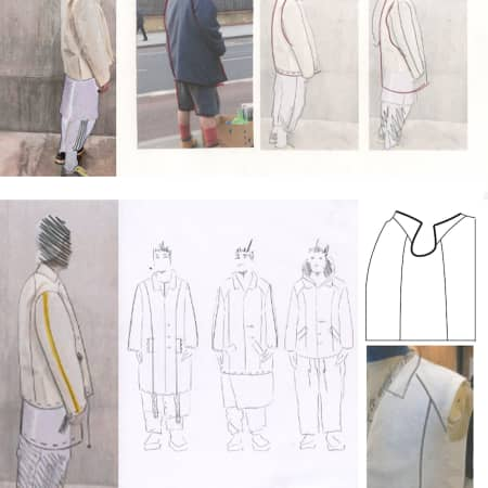 Sketchbook details - Austen Western, BA Fashion