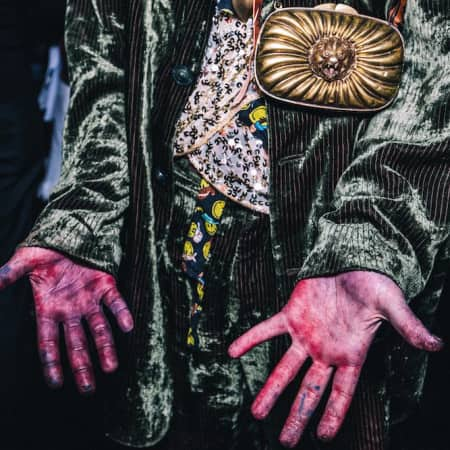 Image of paint stained hands - Asia Werbel
