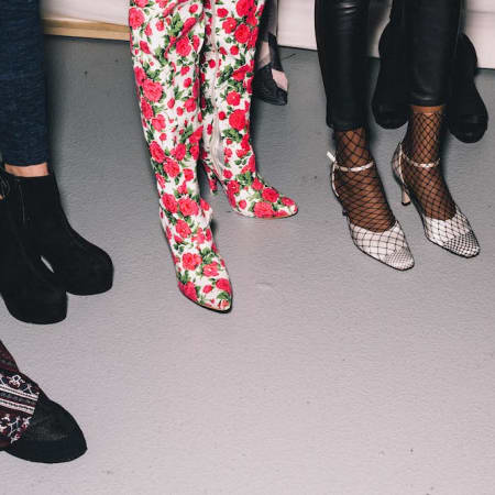 Image of heels backstage at the MA Fashion Show 2016 - Asia Werbel