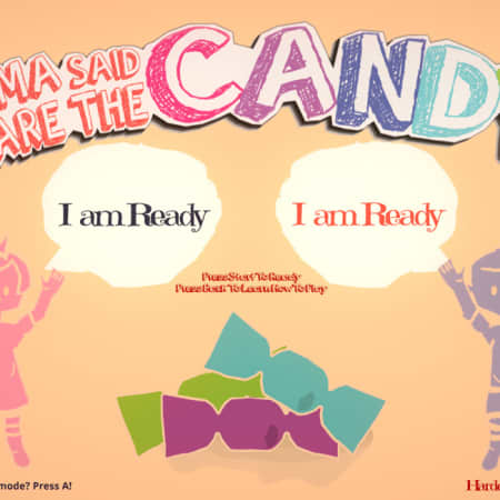 Start screen of Mama Said Share The Candy game by Chris Li
