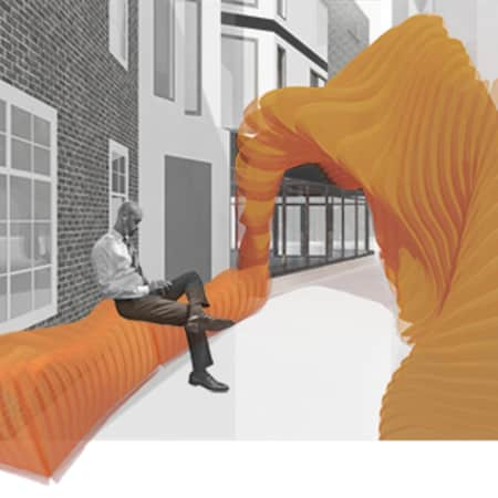Image of student work by Joanna Sawicka, Angelika Wresinska and Yingru Liang, BA (Hons) Design for Branded Spaces, LCC