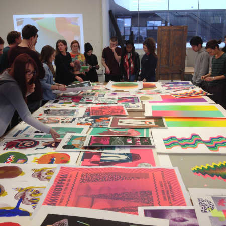 Studio Presentation BA (Hons) Illustration and Visual Media LCC