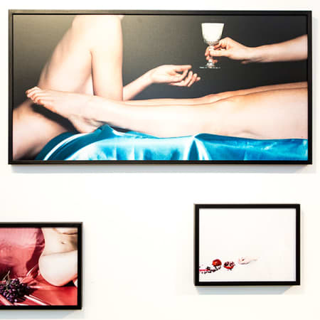 Three frames of work by Emma Hartvig.