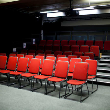 Image of the Cinema looking at the audience