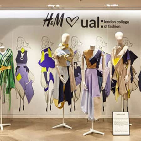 H&M window display in collaboration with LCF