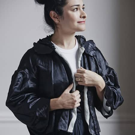 A woman wearing a jacket
