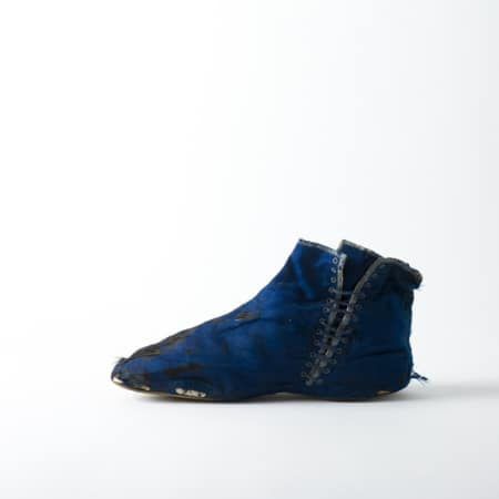 Woman's side-laced ankle boot, Late 1850