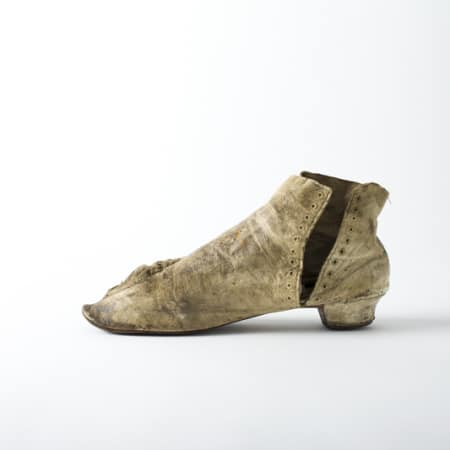 Woman's side-laced ankle boot 1850-1870s