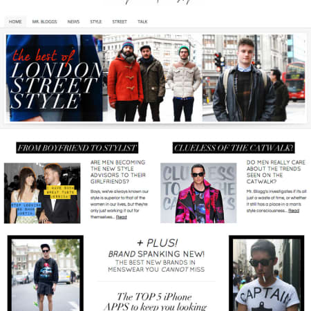 Mr. Bloggs magazine website by Aden Williams