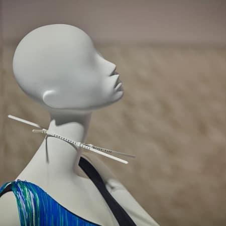 Mannequin wearing Christopher Kane choker