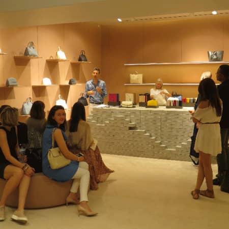 EMBA Milan study trip Valextra showroom 800