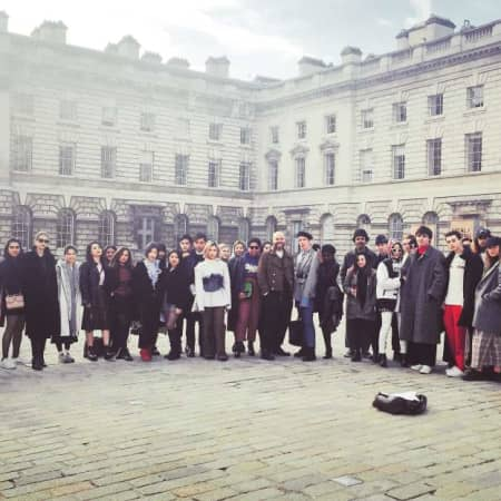 Students outside Somerset House