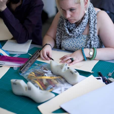 Image of student in Footwear summer school short course