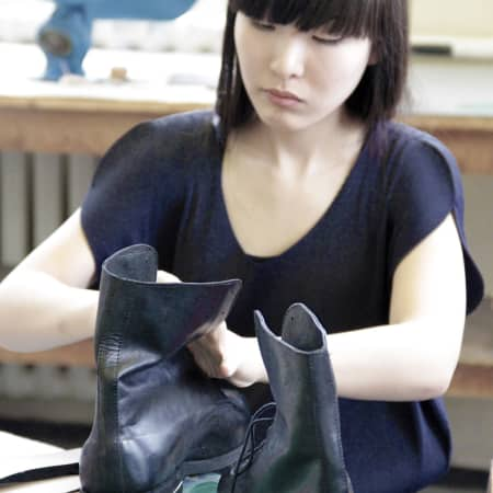 Image of student in Shoe making: the boot short course