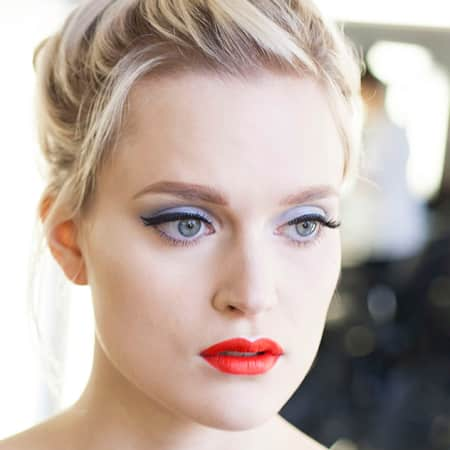 Example look: 40s make-up