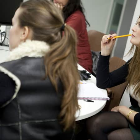 Image of students in Fashion journalism short course