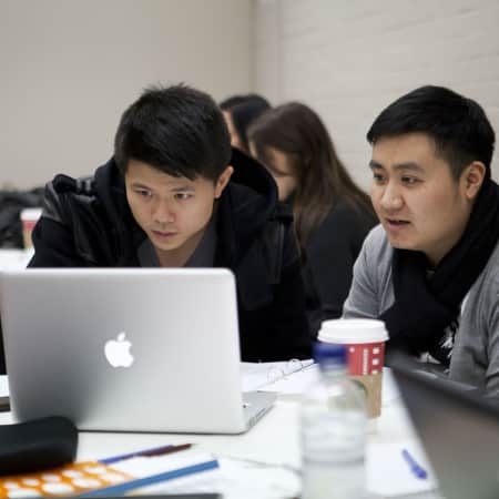 Image of students in Luxury brand management and product design short course