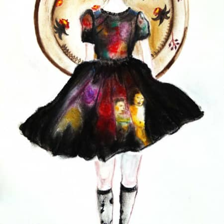 Image of student's work from Fashion illustration online learning short course