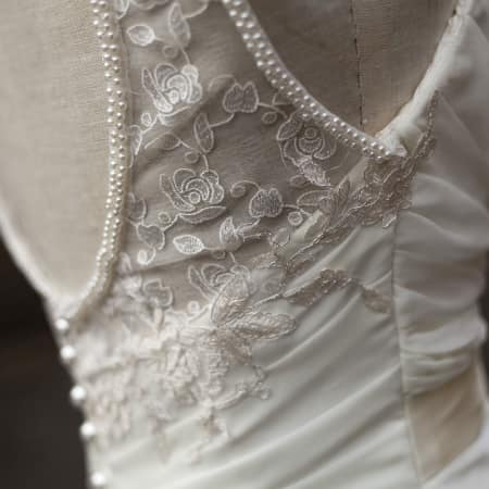 Image of student's work in bridalwear short course
