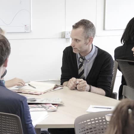 Image of students in fashion journalism (16-18 year olds) workshop