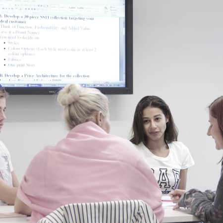 Image of students in Starting your own fashion label short course