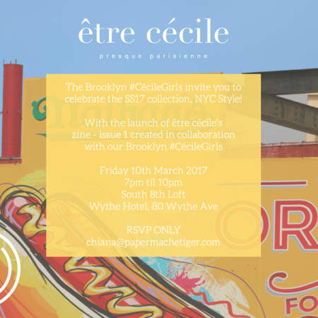 Student case study, example invite for Etre Cecile