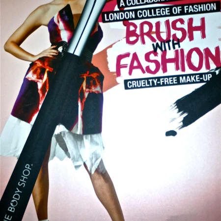 Brush with Fashion event flyer, Mariel Sabga, BA (Hons) Fashion Journalism