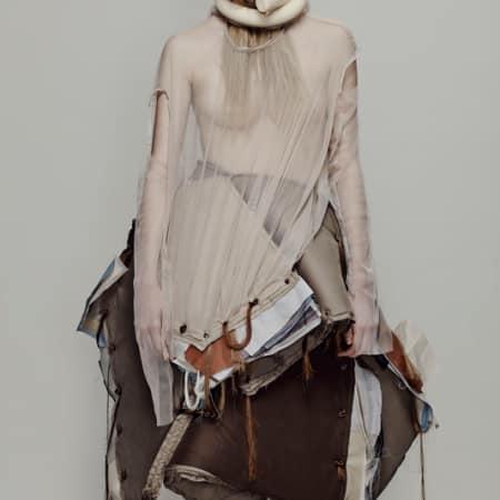 Georgina Johnson, BA (Hons) Fashion Design Technology: Womenswear (view Showtime profile); Jin Kim, BA (Hons) Fashion Textiles: Embroidery.