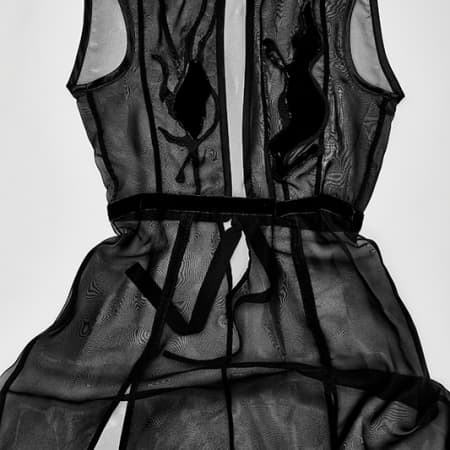 Black sheer corset dress