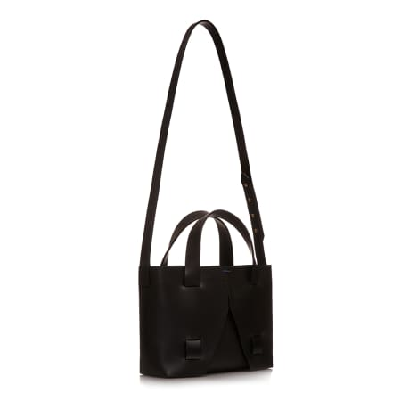 Black shoulder bag by Cat Potter