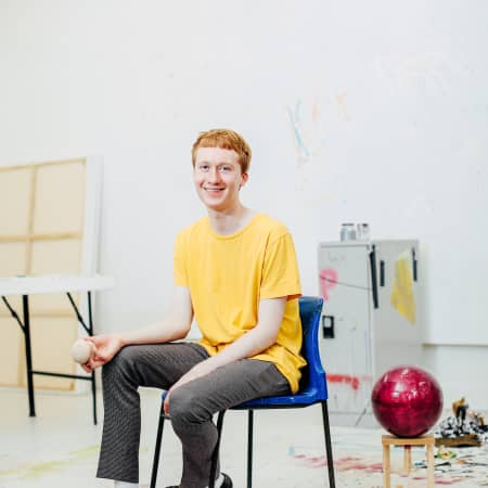 Image of Martin Esseman in the art studio