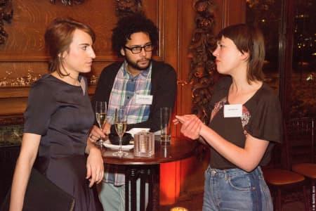 Scholars chatting at the Benefactors' Reception © M Bastel 2013