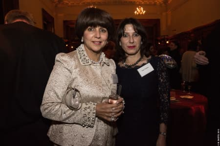 Aisha Caan, Chair of the UAL Development Council, and Tracy Tredoux © M Bastel 2013