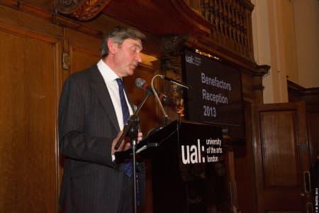 Nigel Carrington making his speech © M Bastel 2013